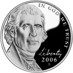 2006 Jefferson 5-cent coin 'Return to Monticello' obverse