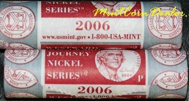 2006 Westward Journey Nickel Set Return To Monticello D P Mint 2 Coin